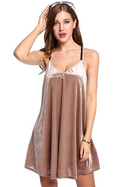 Zeagoo Women s Chiffon Summer Sleeveless Sundress Strappy Backless ... 13041c251416