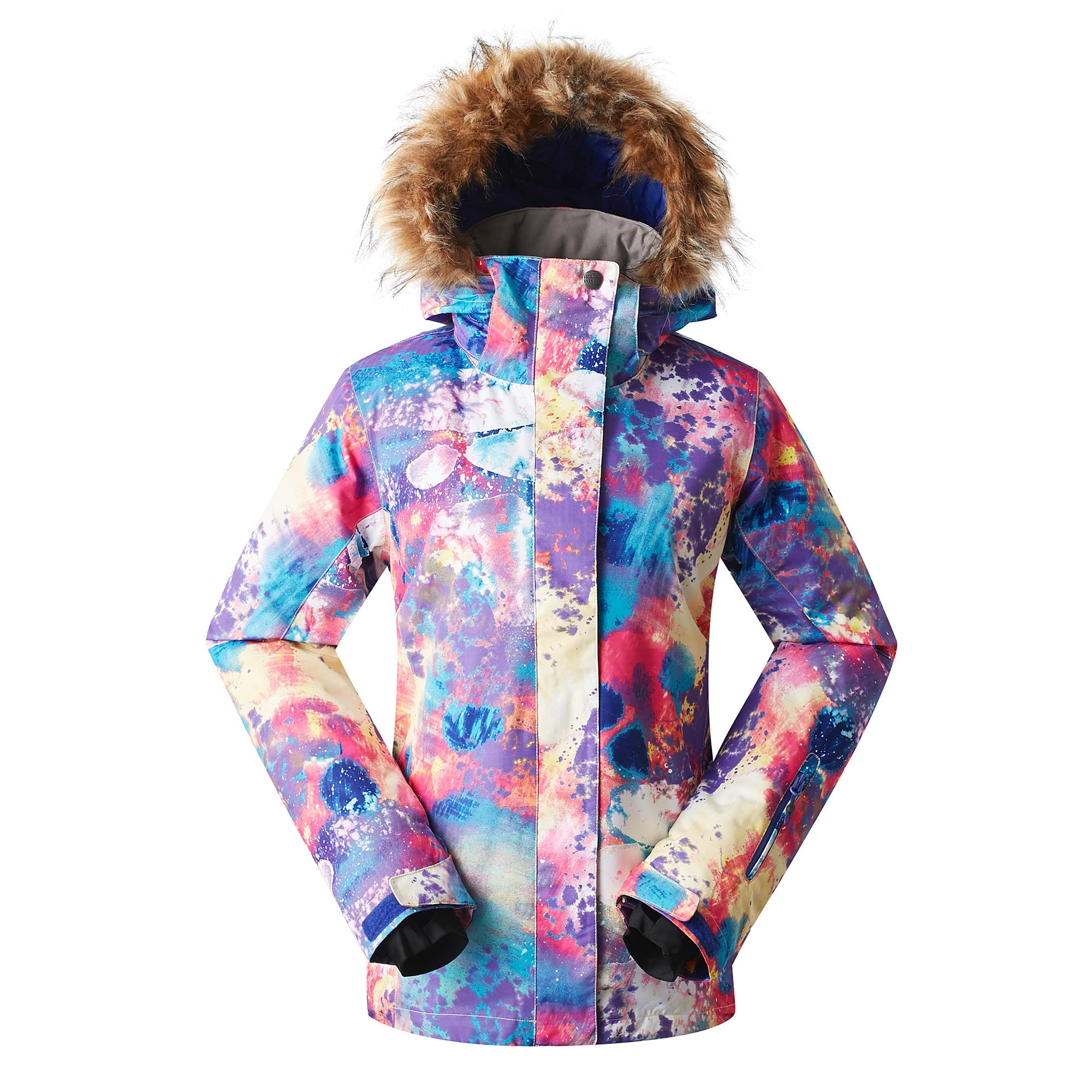 c3c32182d2 GSOU Snow Women s Ski Jacket Snowboarding Jacket for Women Snow Suit  Colorful Ski Clothes Windproof Waterproof Coat