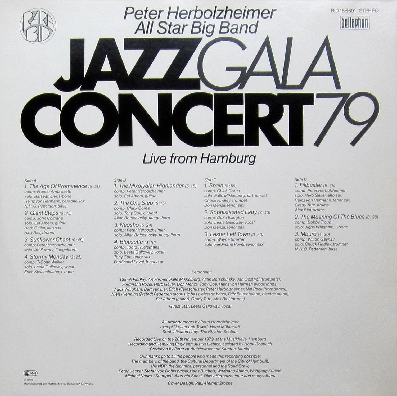 Jazz Gala Concert 79 Live From Hamburg Vinyl Record Vinyl Lp