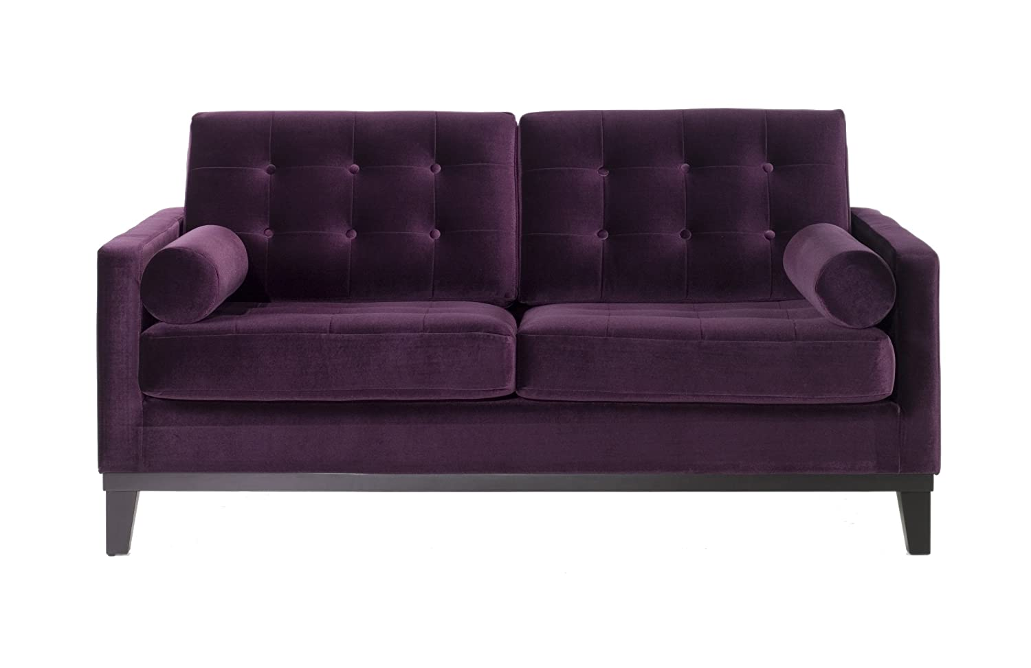 amazoncom armen living  centennial loveseat purple velvet  - amazoncom armen living  centennial loveseat purple velvet kitchen dining