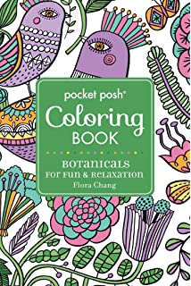 Pocket Posh Adult Coloring Book Botanicals For Fun Relaxation Books