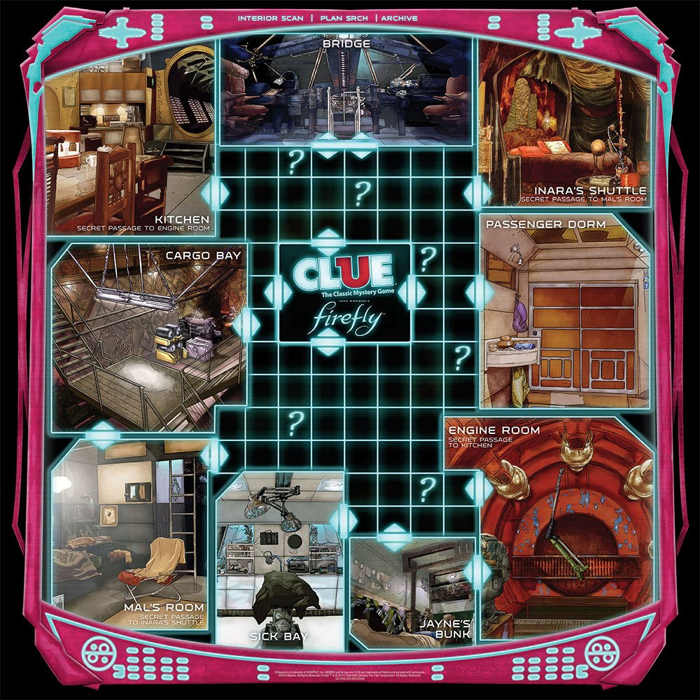 Firefly Clue Game Rejects from Studios CL006-398