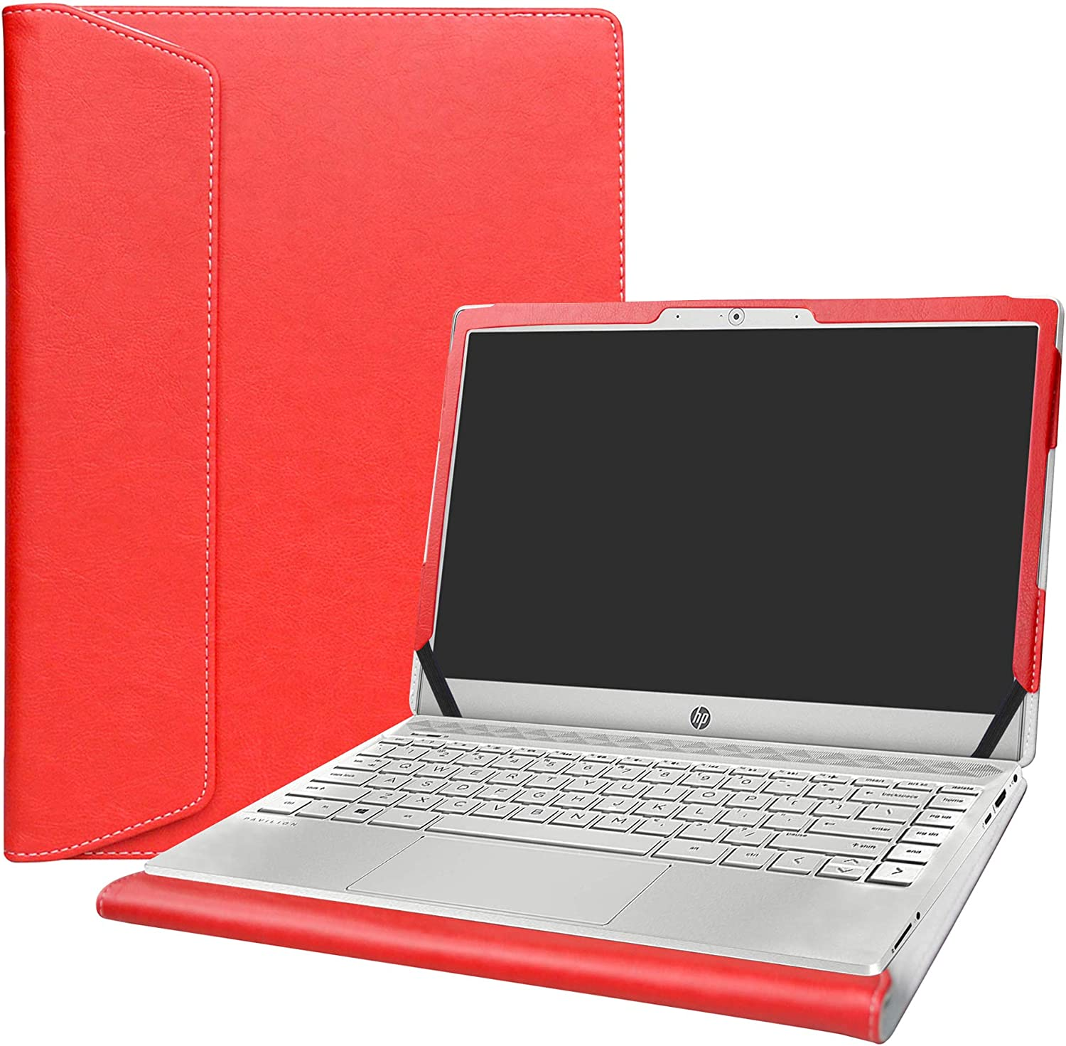 "Alapmk Protective Case Cover for 13.3"" HP Pavilion 13 13-anXXXX Series Laptop [Warning:Not fit Pavilion 13 13-bXXX Series],Red"