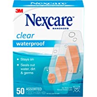 Nexcare Waterproof Bandages, Family Pack, Clear, 200 Count, Assorted Sizes