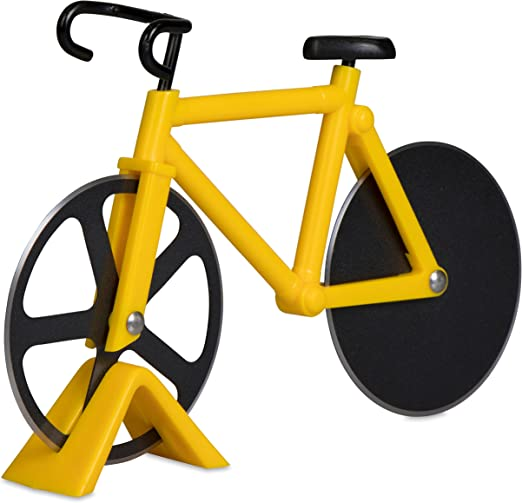 Cortador de pizza en diseño de bicicleta – Amarillo y Negro 18 x ...