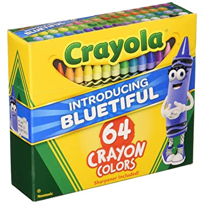 "Crayola TRTAZ11A Crayon Set, 3-5/8"", Permanent/Waterproof, 64/BX, Assorted, Sold as 1 Box: Arts, Crafts & Sewing"