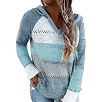 BLENCOT Sudadera Mujer Jersey con Capucha Mujer Sudaderas con Capucha Mujer Sweatshirt Mujer Suéter Mujer Cardigan de…