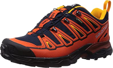 Salomon X Ultra 2 GTX, Zapatillas de Senderismo para Hombre, Naranja-Orange (Deep Blue/Tomato Red/Yellow Gold), 41 1/3 EU: Amazon.es: Zapatos y complementos