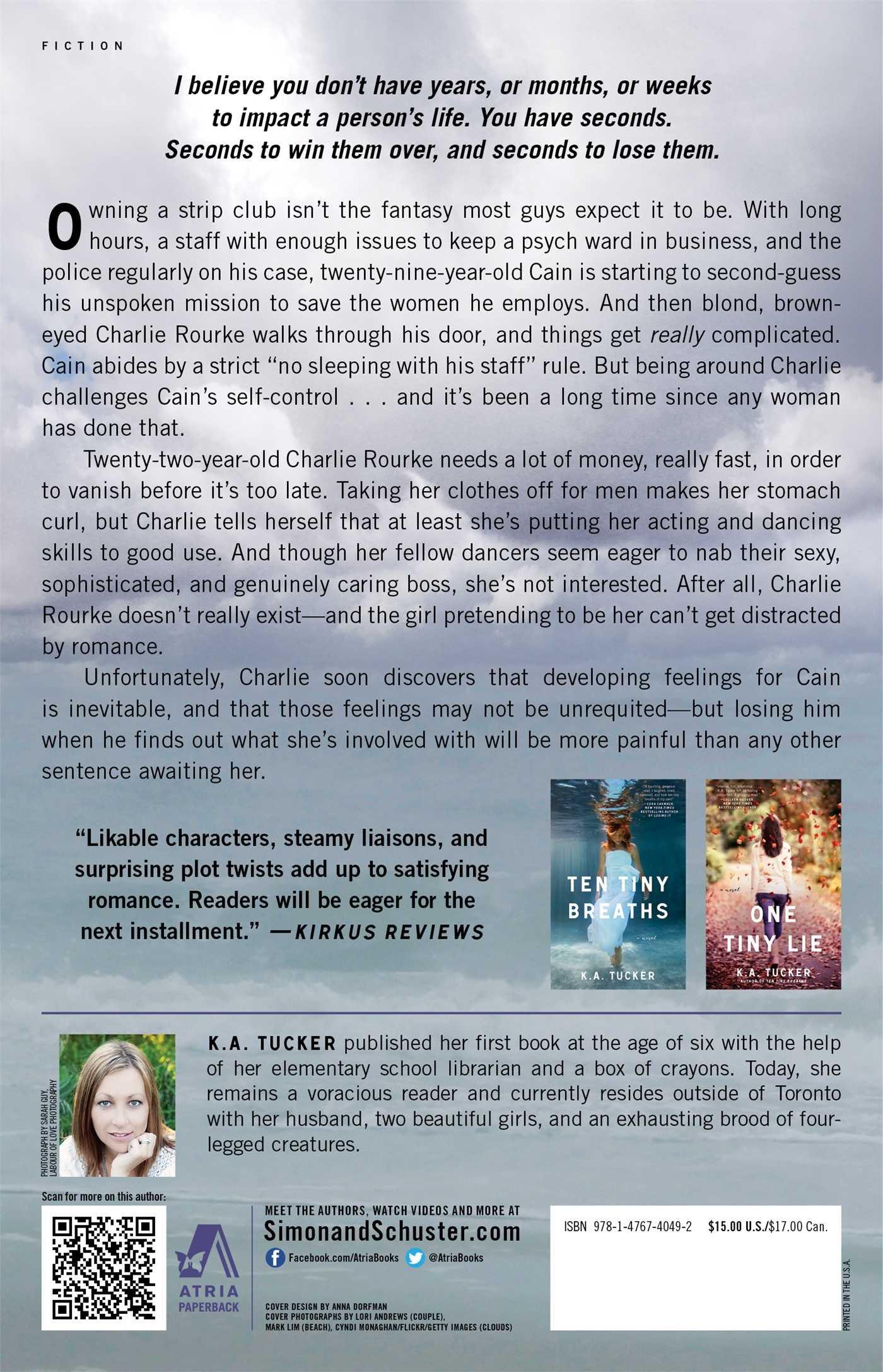 Four Seconds To Lose: A Novel (the Ten Tiny Breaths Series): Ka Tucker:  9781476740492: Amazon: Books