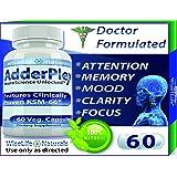 #1 Energy Boost Nootropic Brain Foods - Focus Mood Memory Natural Nerve Tonic Anti Anxiety Stress Support Sport Enhancing Pill Stack Ashwagandha Bacopa Ginkgo Ginseng Phosphatidylserine DMAE Vitamin B