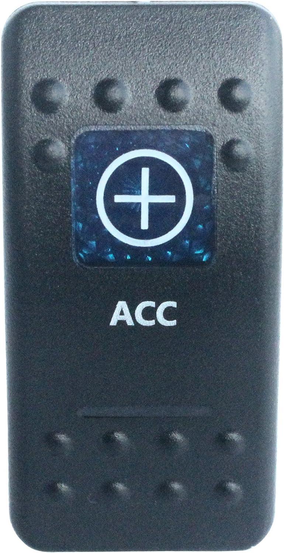 BANDC Nav//ANC Lights Rocker Switch On-Off-ON Blue LED Dpdt//7 pins 12v//24v Waterproof Ip 66 Marine Boat Car