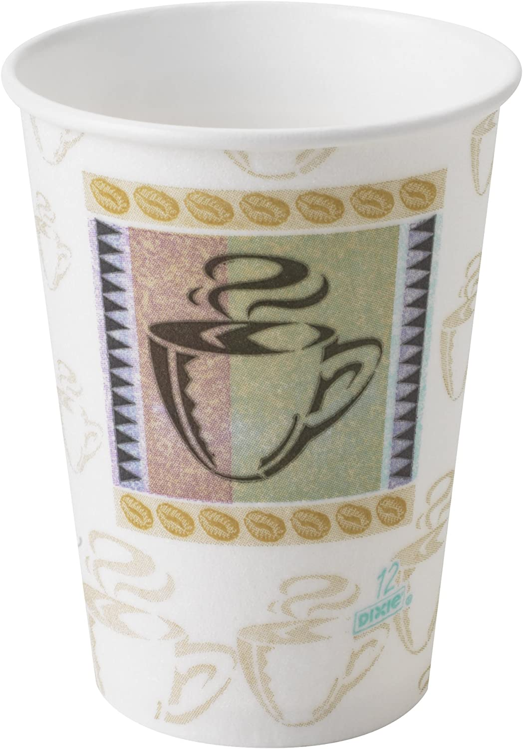 Georgia-Pacific 25 Cups Per Sleeve, 20 Sleeves Per Case 5342DX, 500 Cups Coffee Haze .1 Pack Dixie PerfecTouch 12 Oz Insulated Paper Hot Coffee Cup by GP PRO