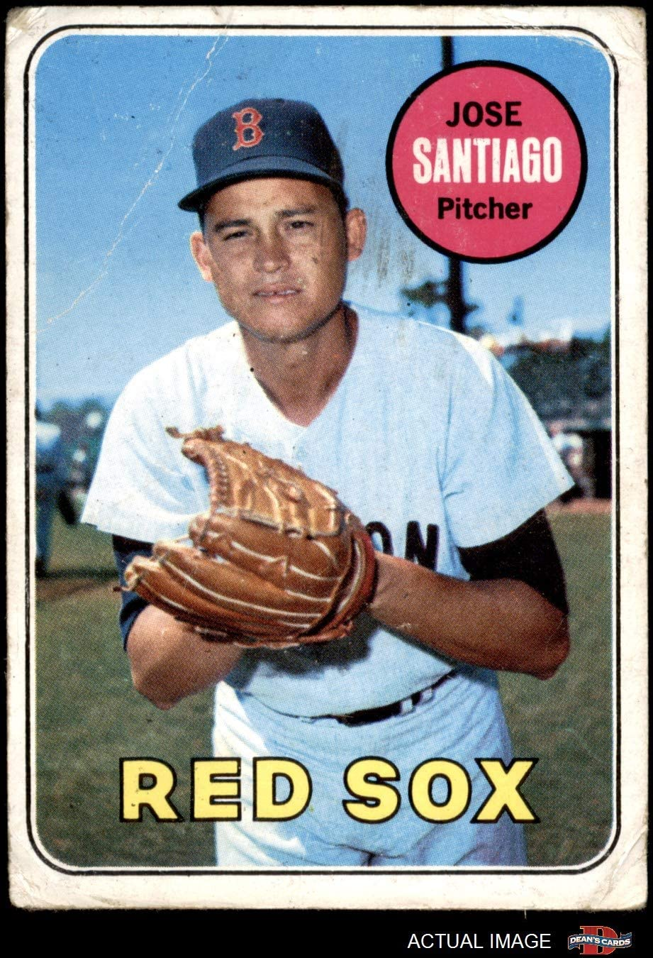 1968 Topps # 123 Jose Santiago Boston Red Sox EX Red Sox Deans Cards 5 Baseball Card