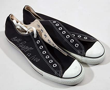 3a68ea077ff9 Bill Russell Signed Converse All Star Shoes Sneakers Boston Celtics ...
