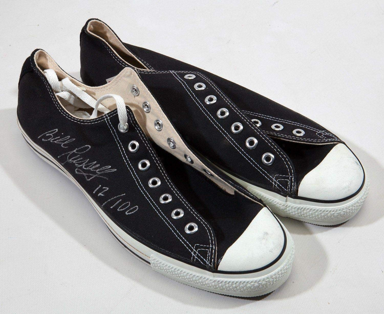 Bill Russell Signed Converse All Star Shoes Sneakers Boston Celtics COA PSA/DNA Certified Autographed Hats