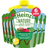 Heinz By Nature Organic Baby Food - Apple, Broccoli, Peas & Brown Rice Purée - 128mL Pouch (Pack of 6)