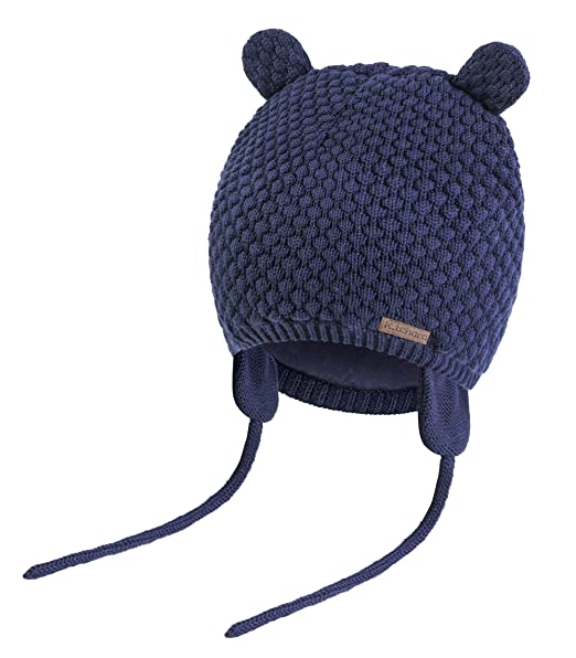 46cdcc0c Baby Hat Winter Warm Knit Earflap Cap Beanie Cute Bear Todder for Spring  Boys Girls 0-3 Years