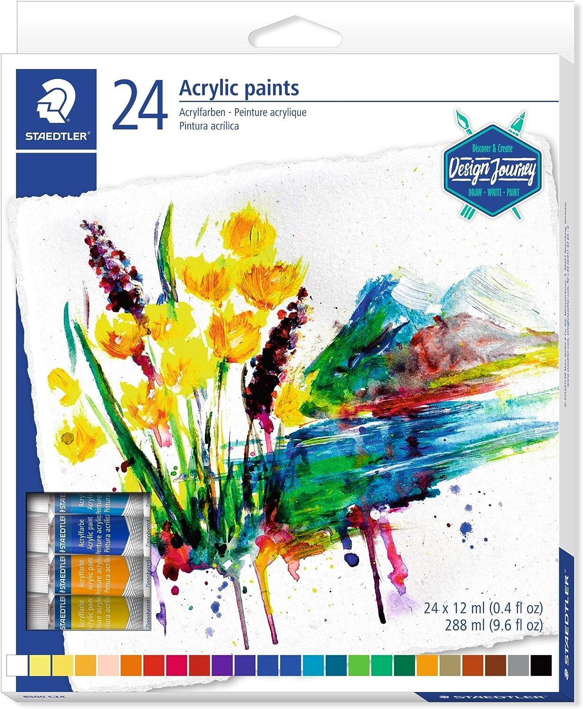 Staedtler Karat 8500 C24. Tubos de pintura acrílica. Caja con 24 ...