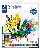 أنابيب ألوان أكريليك من ستيدتلير طراز 8500 - متعددة الألوان (عبوة من 24 لون)