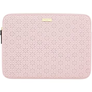 new product 7560b 376b1 Kate Spade KSMB-016-RQ New York Perforated Protective Laptop Sleeve for  13-Inch MacBook/Laptop, Rose Quartz