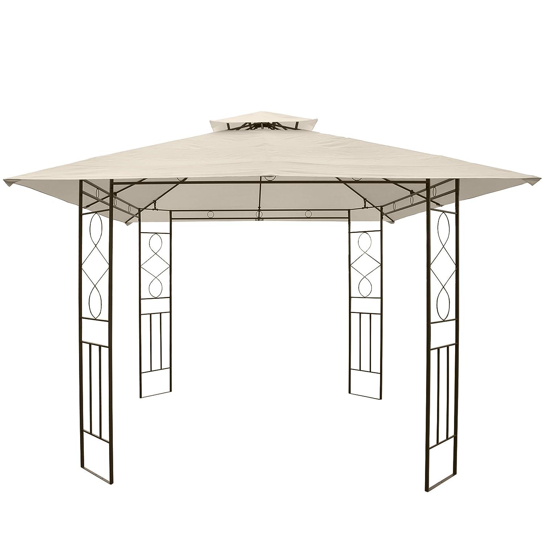 Pergola Montilla, Cenador prikker-überdachungen, estructura estable de acero, 3 x 3 m: Amazon.es: Jardín