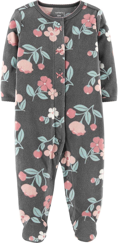 fe40e7946e43 Amazon.com  Carter s Girl s Pajamas Footie Charcoal Floral Snap-Up ...