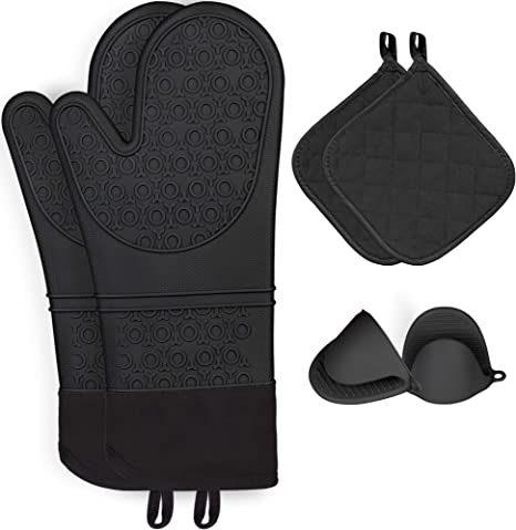 Kitchen Gadgets Silicone Gloves Heat Resistant Grip Baking Mitts Oven Pot Holder
