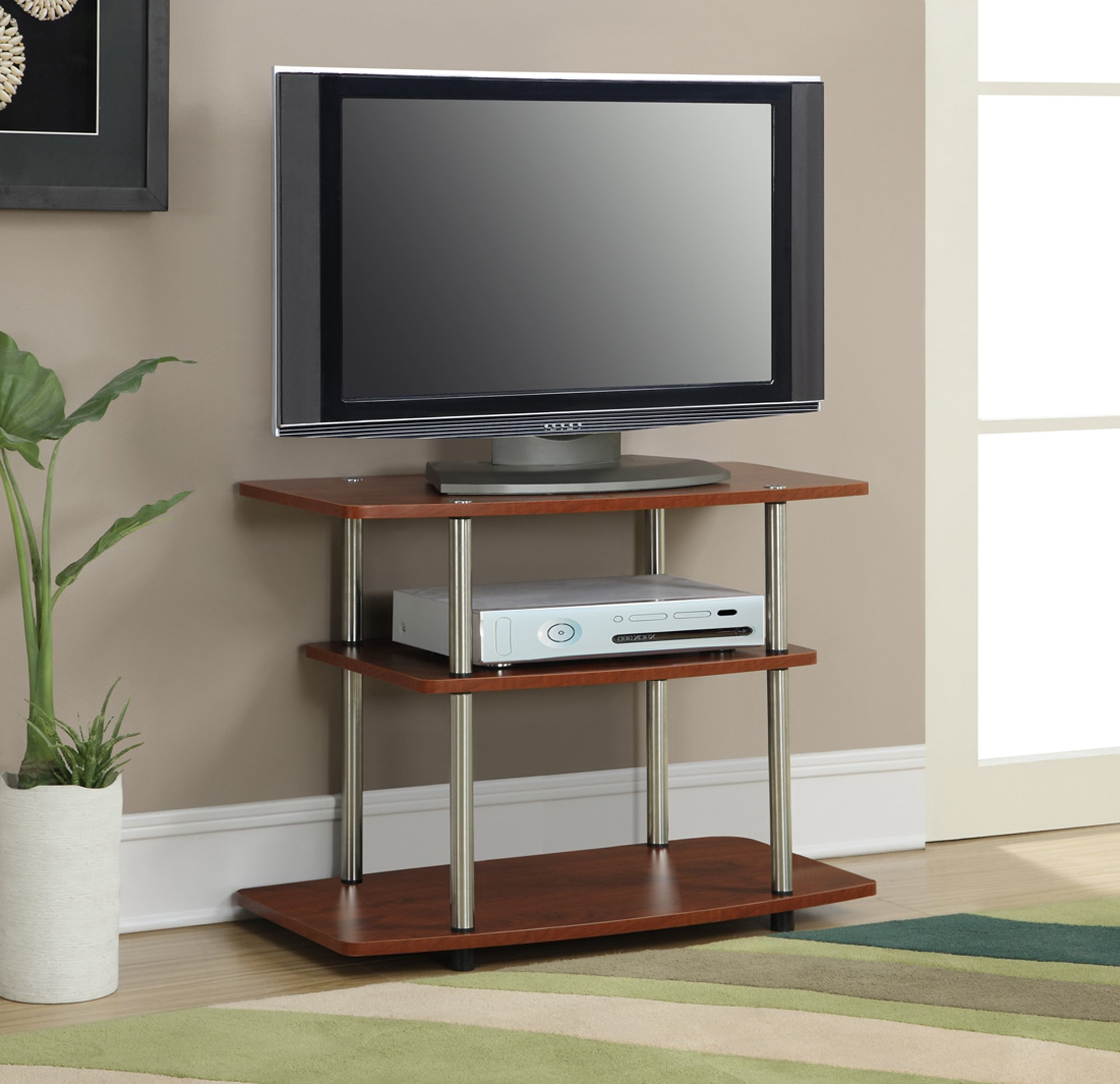Convenience Concepts Designs2Go 3-Tier TV Stand for Flat Panel Television Up to 32-Inch or 80-Pound, Cherry by Convenience Concepts (Image #3)