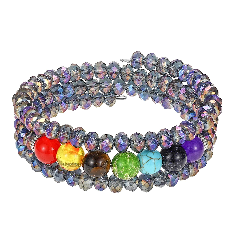2bd918411fdc8 Crystal Wrap Bangle Bracelets for Women - Fashion Boho Strand ...
