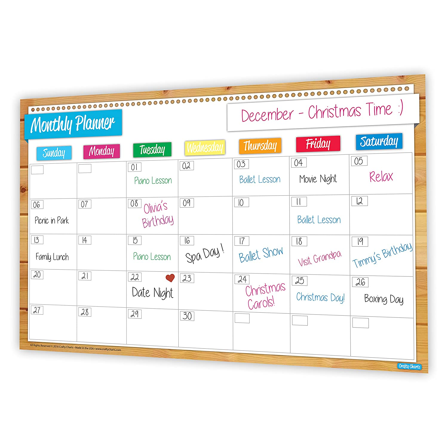 2018 Magnetic Monthly Planner, Flexible Dry Erase White Board, Daily and Weekly Organiser, Meal Planner, Grocery List, Keeps You Organised, Track Appointments for the Whole Family, Reusable Calendar