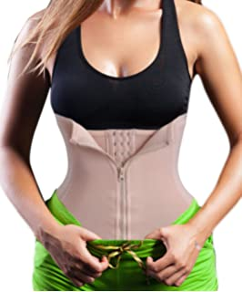 ae93f296909 Chumian 3 Clip 1 Zip 6 Steel Boned Waist Trainer Corset Sport Workout Body  Shaper Tummy Control