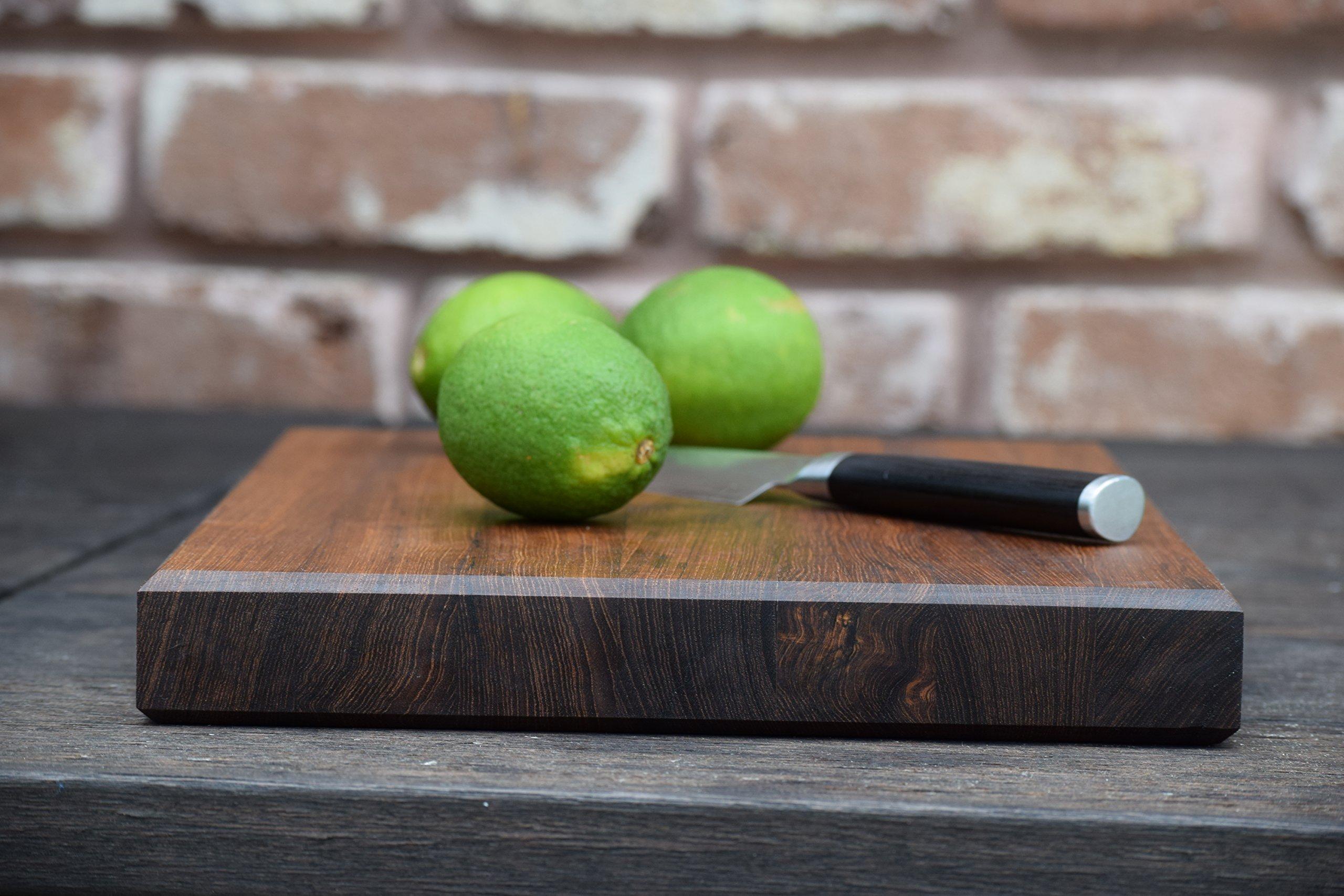 Teak Wood Edge Grain Cutting Board Handmade Reversible Butcher Block by The Practical Plankist (Image #7)