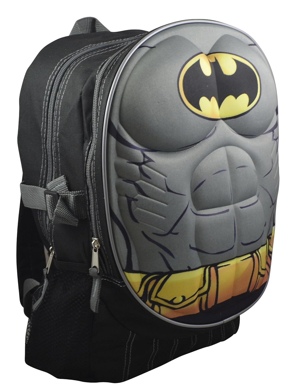 "Marvel DC Comics Superheroes Domed Shaped 3D Pop Out Boys' 16"" School Book Bag w/ Bonus Coloring Book"