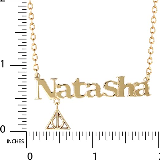 """Harry Potter Personalized Custom Golden Snitch Name Necklace 14K Gold Over Sterling Silver Official License 18/"""" Customizable Design Nameplate"""