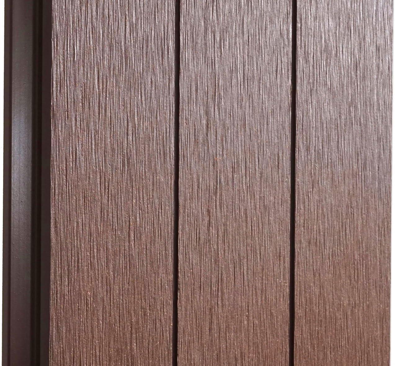Mendler Pannello supplementare frangivento Obliquo SX Privacy Sarthe WPC 98cm Marrone