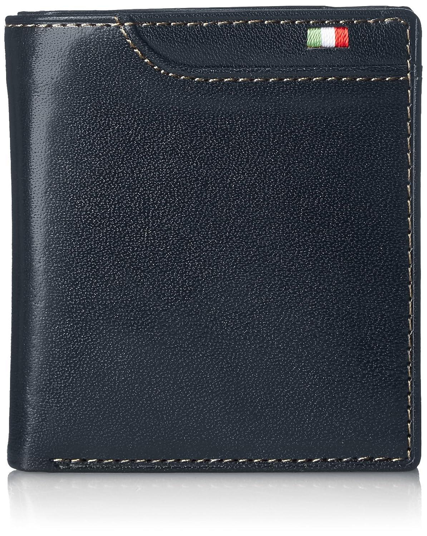 [ミラグロ] 財布 二つ折り 小銭入れ タンポナートレザーシリーズ CA-S-557 B01KNGKPXW ネイビー ネイビー