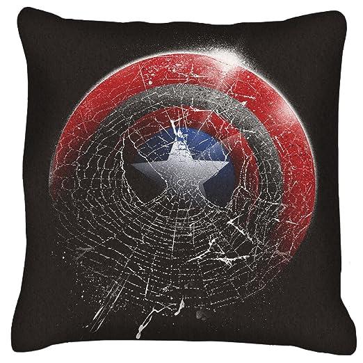 Marvel Spiderman Capitán América araña escudo cojín: Amazon ...