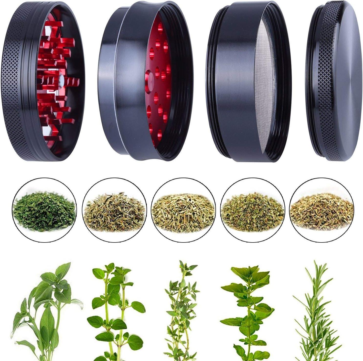 Alliage de Zinc sp/écial en Alliage de Zinc. Tsinggs Broyeur de Foudre Herb Grinder avec Aluminium de premi/ère qualit/é