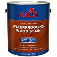Deals on KILZ L832211 Exterior Waterproofing Wood Stain 1-Gallon