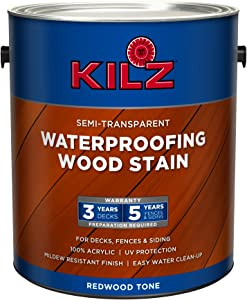 KILZ L832211 Exterior Waterproofing Wood Stain