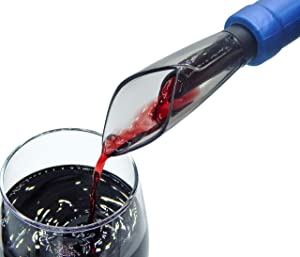 Premium Wine Aerator Pourer Spout - Double Aerating Wine Fall for the Demanding Enthusiast - Get the Best Aroma and Flavor out of any Wine Bottle