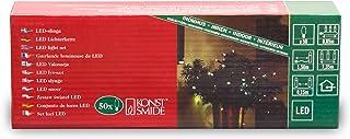 Konstsmide 5300-100 Luci natalizie a LED, 50 diodi bianchi, 230 V, per interni, cavo verde