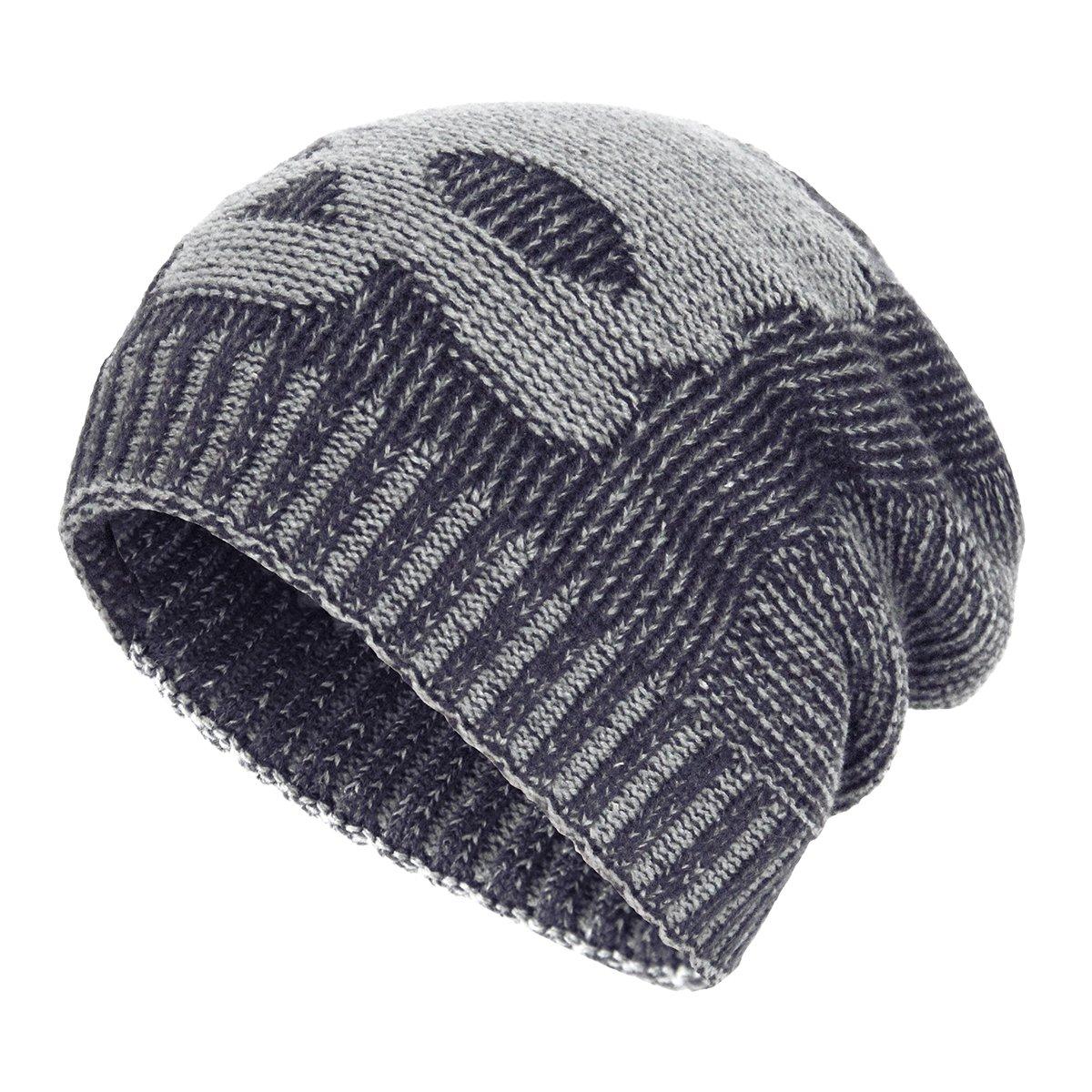 1bd4095196b OMECHY Winter Slouchy Beanie Hats Unisex Skull Knit Wool Ski Cap Hat ...