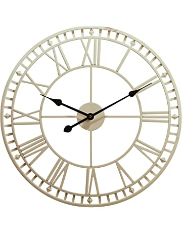 483284e9b55 Wyegate Outdoor Garden Wall Clock Large Weatherproof with Roman Numerals