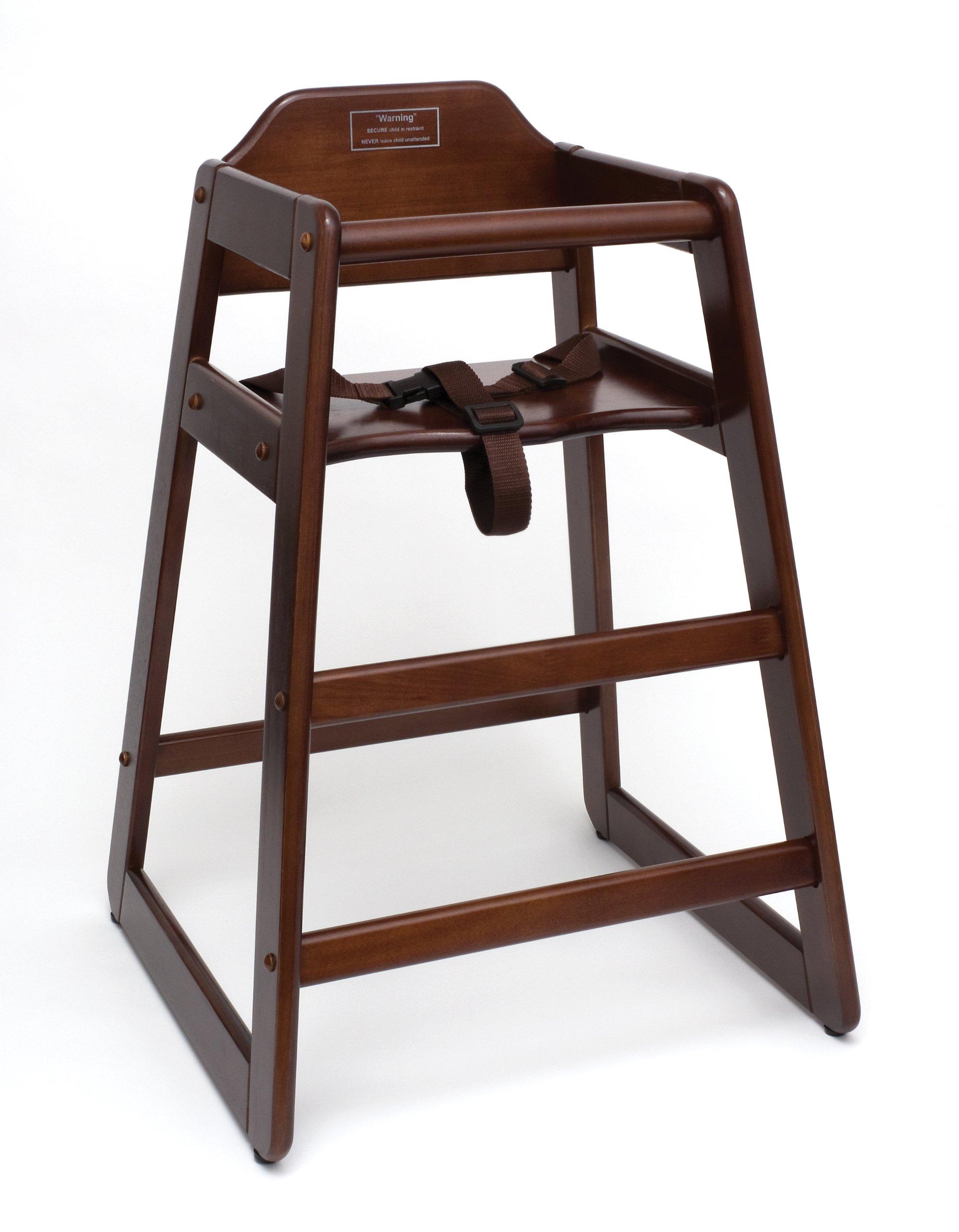 Lipper International 516WN Child's High Chair, 20'' W x 19.75'' D x 28.75'' H, Walnut Finish