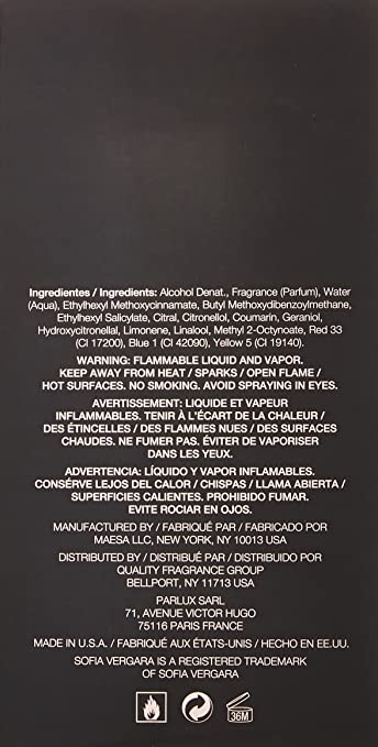 Sofia Vergara Eau De Parfum Spray for Women, 3.4 oz.