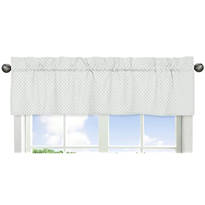 Sweet Jojo Designs Mint Green and White Lattice Window Treatment Valance for Woodland Deer Floral Collection: Baby