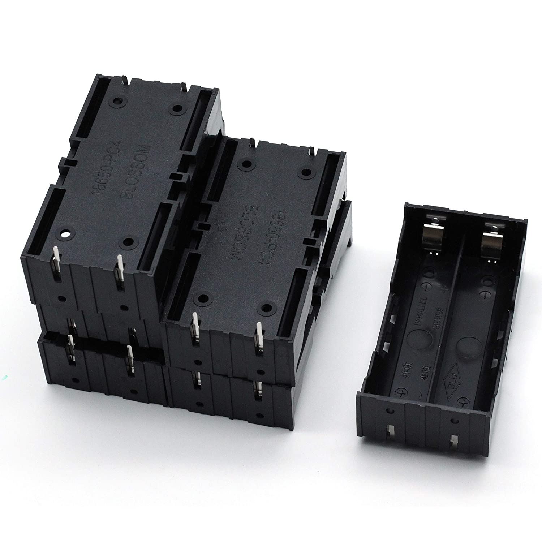 Aodesy Battery Holder Case Storage Box 2 x 3.7V 18650 Black Pack of 6 Shenzhenshiaodesiwujinjidianyouxiangongsi