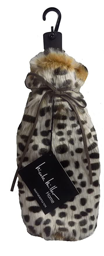ee4018e4ad08 Image Unavailable. Image not available for. Color  Nicole Miller Luxury Faux  Fur Wine Water Bottle Tote (Cheetah)