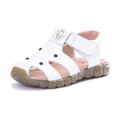 KVbaby Sandales Bout Fermé Mixte Enfant Confortables Flexibles Beach Sandales  Filles Garçons Sandales en Cuir - 3a45f0ab3814